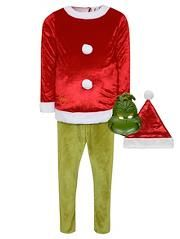 Dr Seuss The Grinch Christmas Fancy Dress Costume Christmas Fancy Dress Costumes Christmas Outfit Novelty Clothing