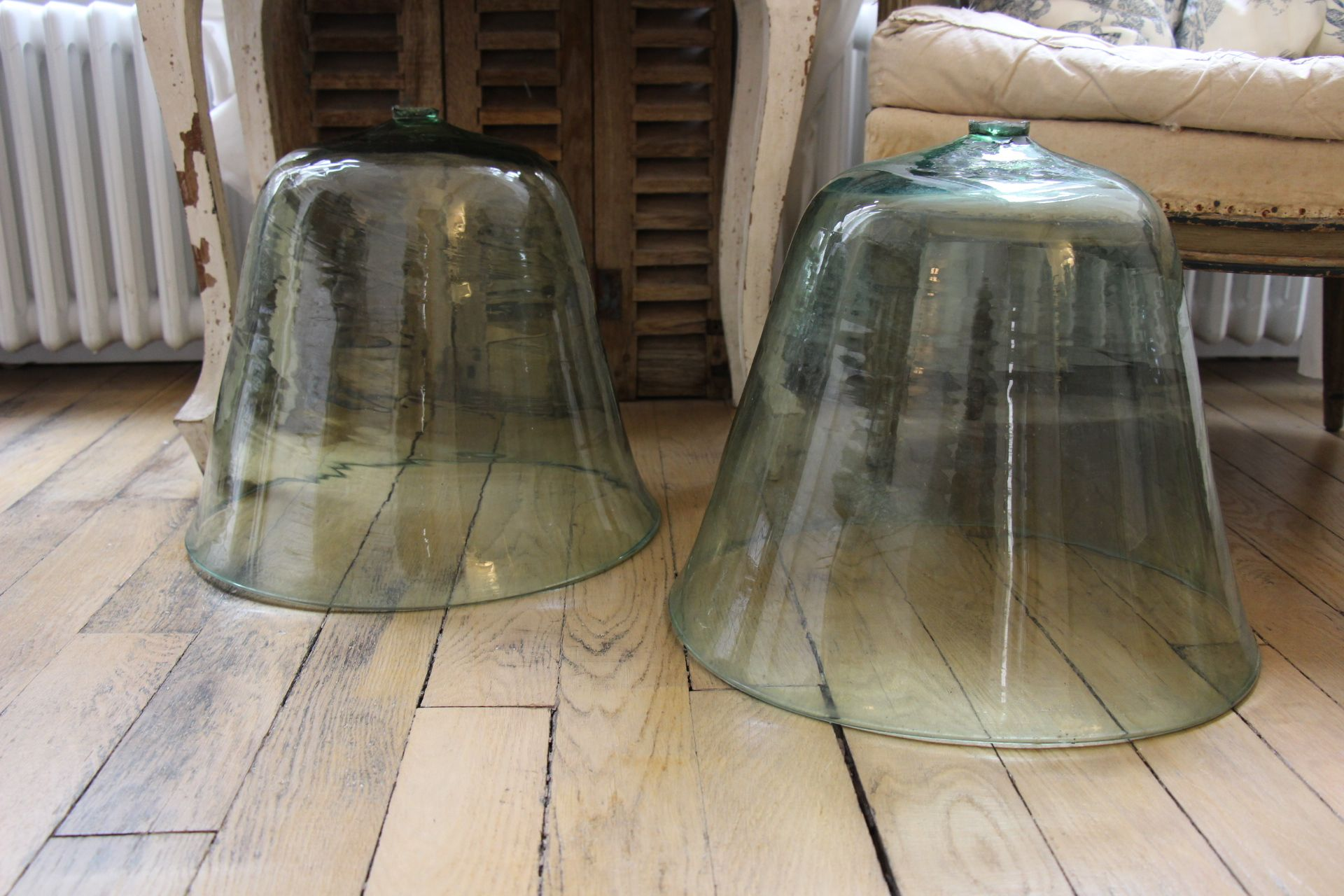 Paire De Cloches A Melon Anciennes Decoration Brocante Antiquite
