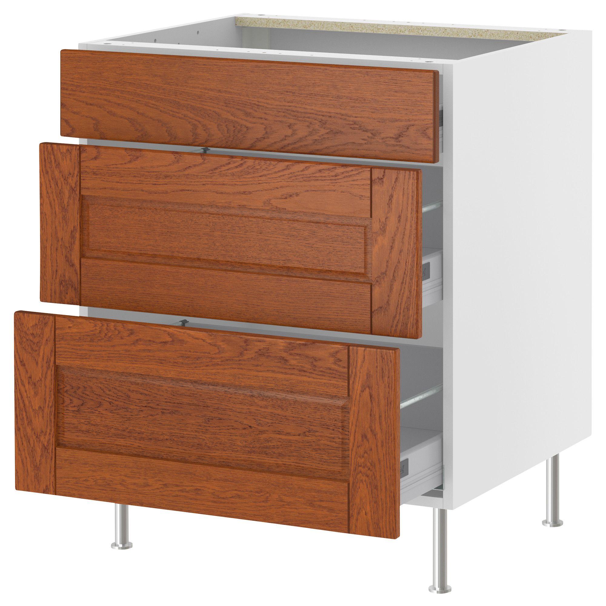 Interior Akurum Base Cabinet akurum base cabinet with 3 drawers white lixtorp brown 15 ikea