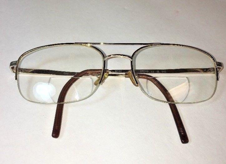MARCHON Eye Glasses 57-19-145 M132 714 Rx Frames Half Rim Gold tone ...