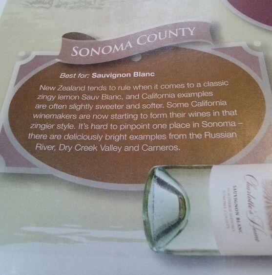 Sonoma county best for sauvignon blanc