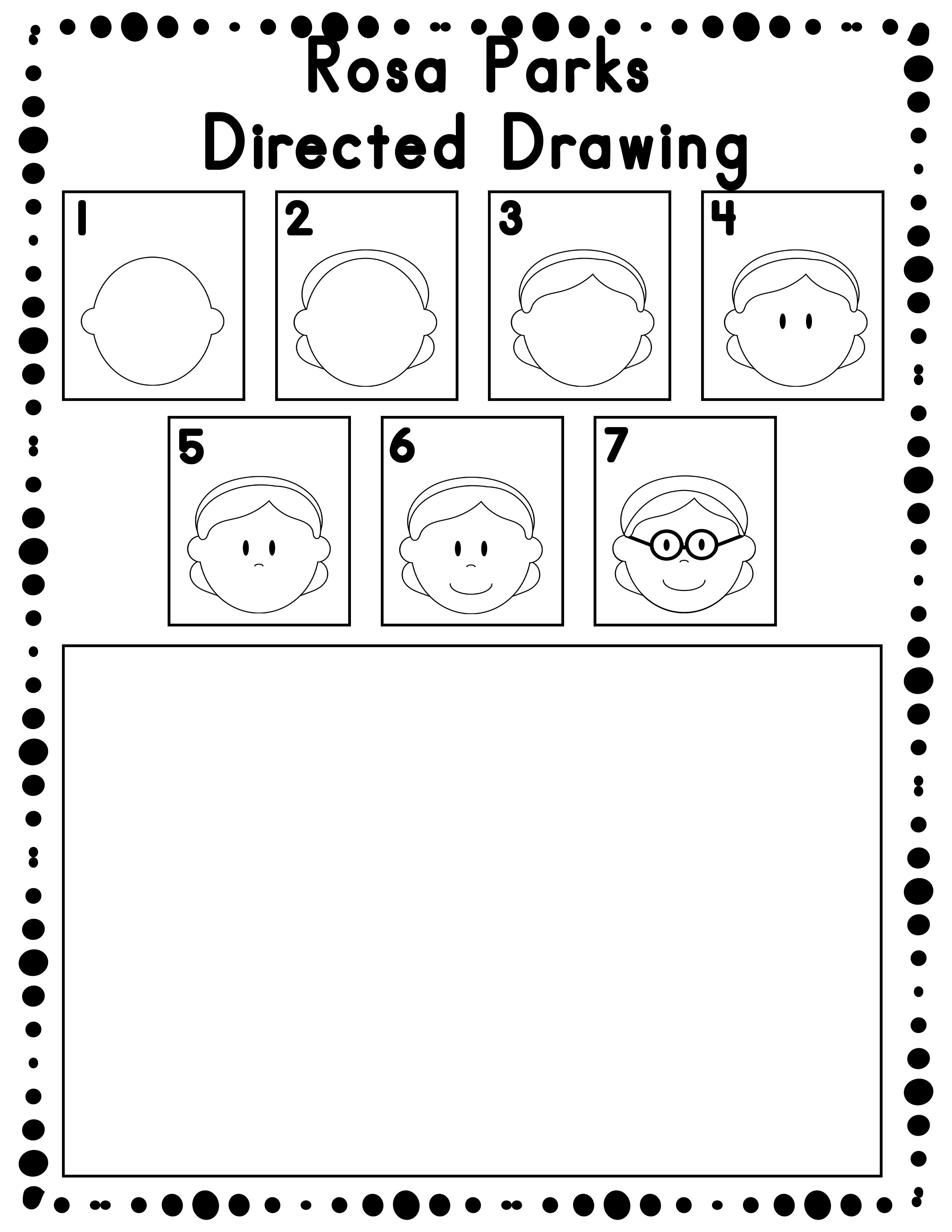 Black History Month Directed Drawing Activity For