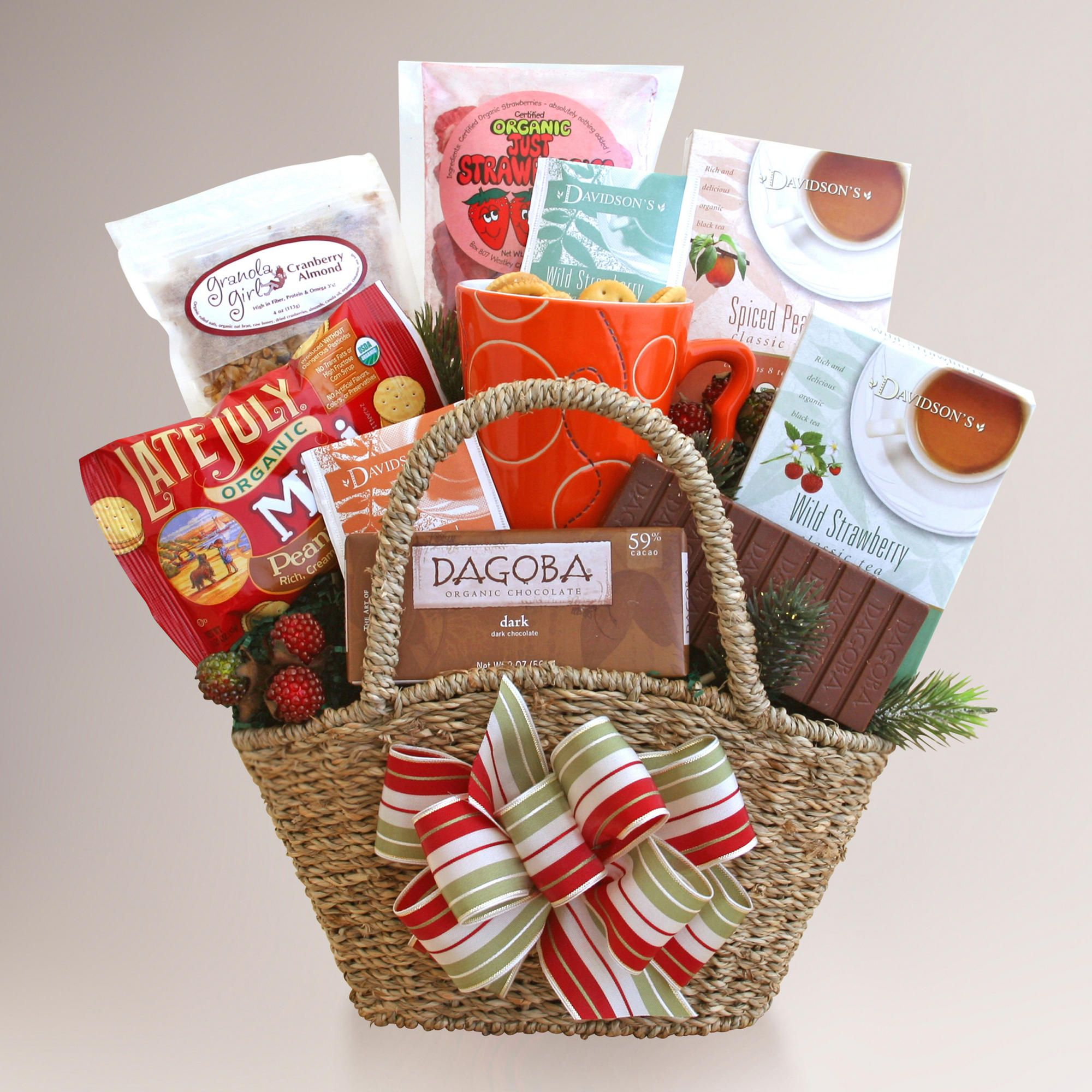 Tasteful Organic Tea and Treats Gift Basket World Market