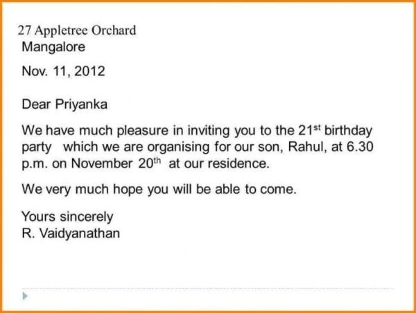 Invitation Letter Sample For Birthday Party My Essay 10 Line On Clas 2 In Hindi Grade 5