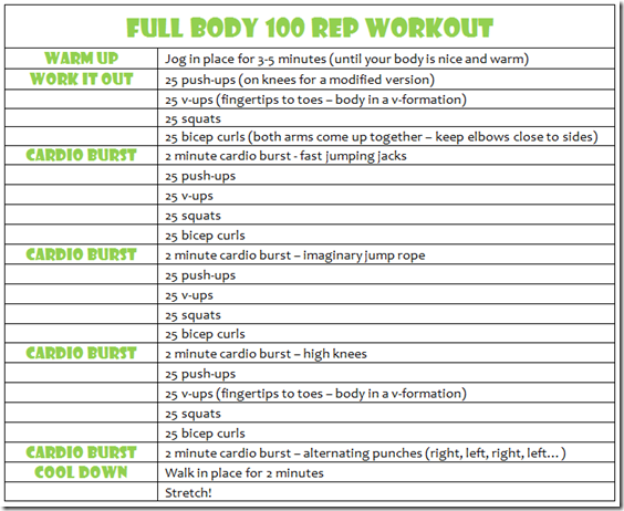 Rep Workout  Girl Lookit That Body    Workout