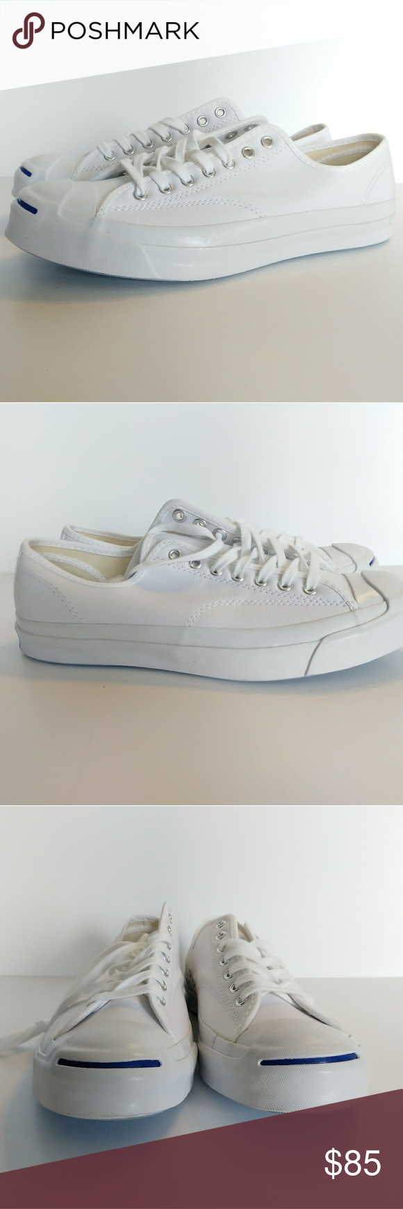 be4fbfe4a0320b Converse Jack Purcell Signature Ox White Men s 10