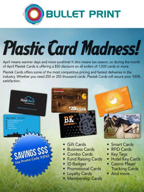 Plastic Card Madness #PROMOTIONS #PROMOCIONES #2013 #USA #EEUU ...