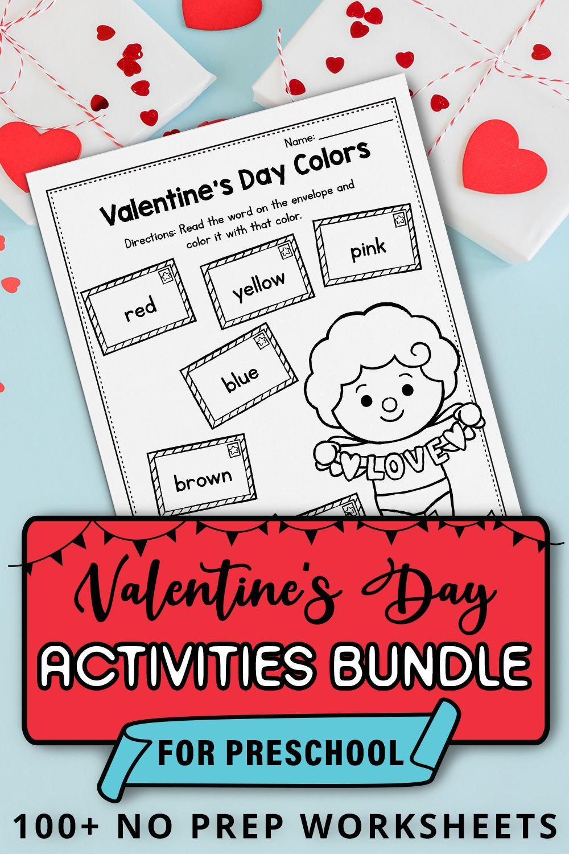 Valentines Day Worksheets And Printables For Preschool And Kindergarten Colors In 2021 Preschool Valentines Worksheets Valentines Day Activities Preschool Valentines [ 1500 x 1000 Pixel ]