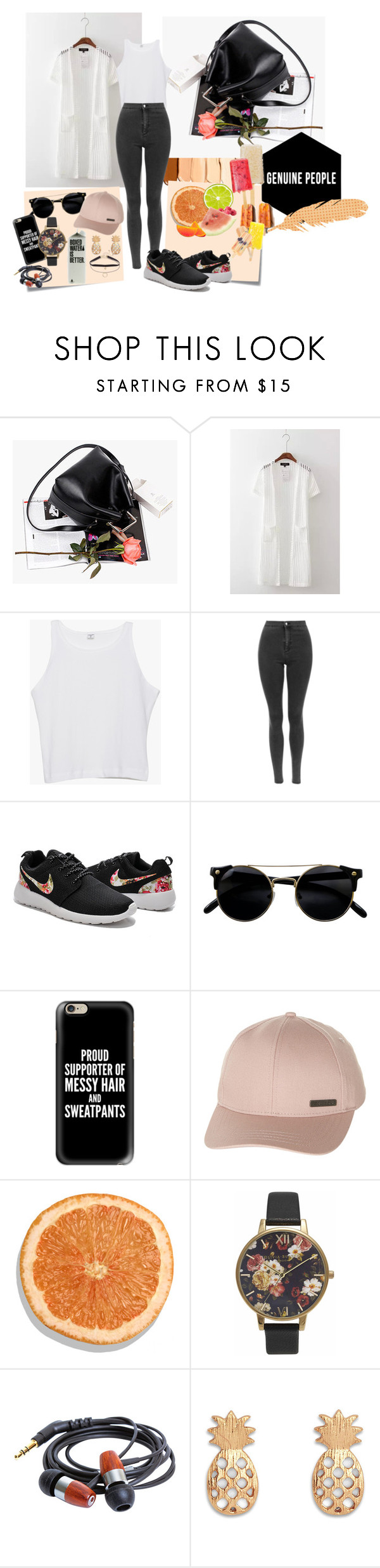 """""""Something sporty"""" by nicolepuppy ❤ liked on Polyvore featuring Post-It, Casetify, Billabong and Olivia Burton"""