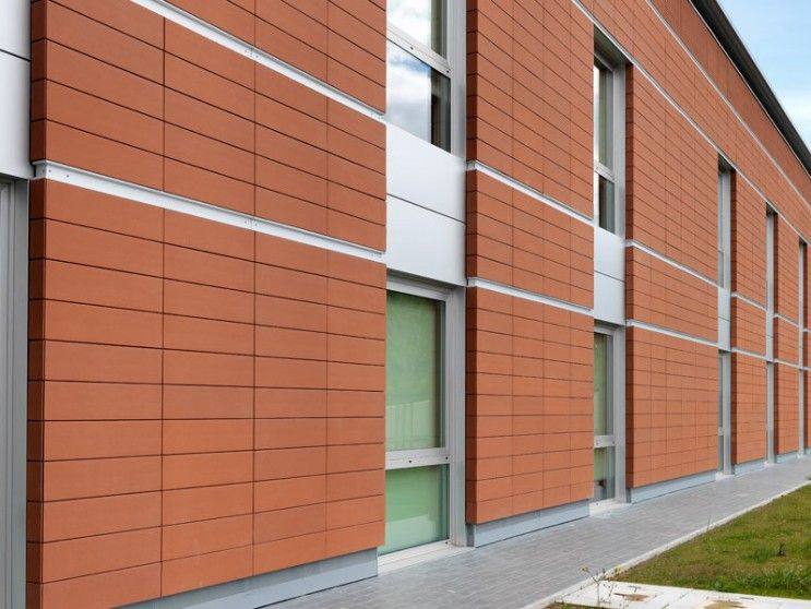 Green clay material exterior wall terracotta panels with rich color 743 558 for Sustainable exterior cladding materials