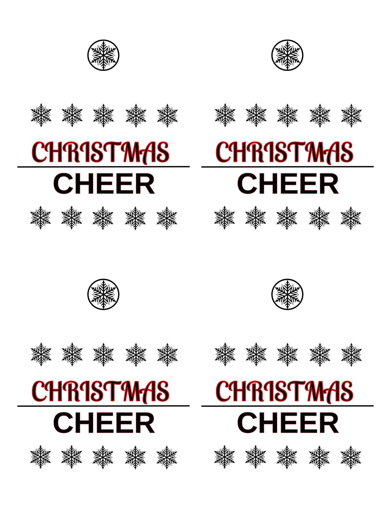 Christmas Beer Labels Reindeer Beer Bottle Craft Free