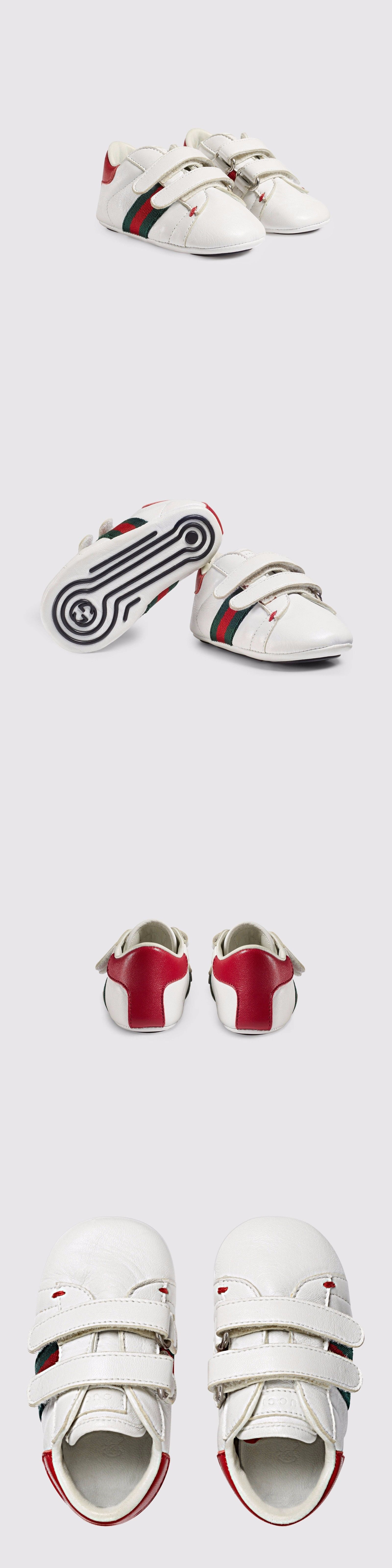0a3c374ec3a0c Baby Shoes 147285  Nib New Gucci Baby Boys Ace White Leather Sneaker Crib  Shoes 16 18 Us 1 3 285211 -  BUY IT NOW ONLY   149 on eBay!