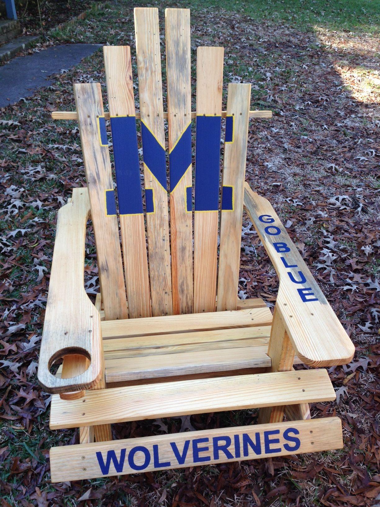 michigan adirondack chair canvas swing new zealand goblue universityofmichigan custom