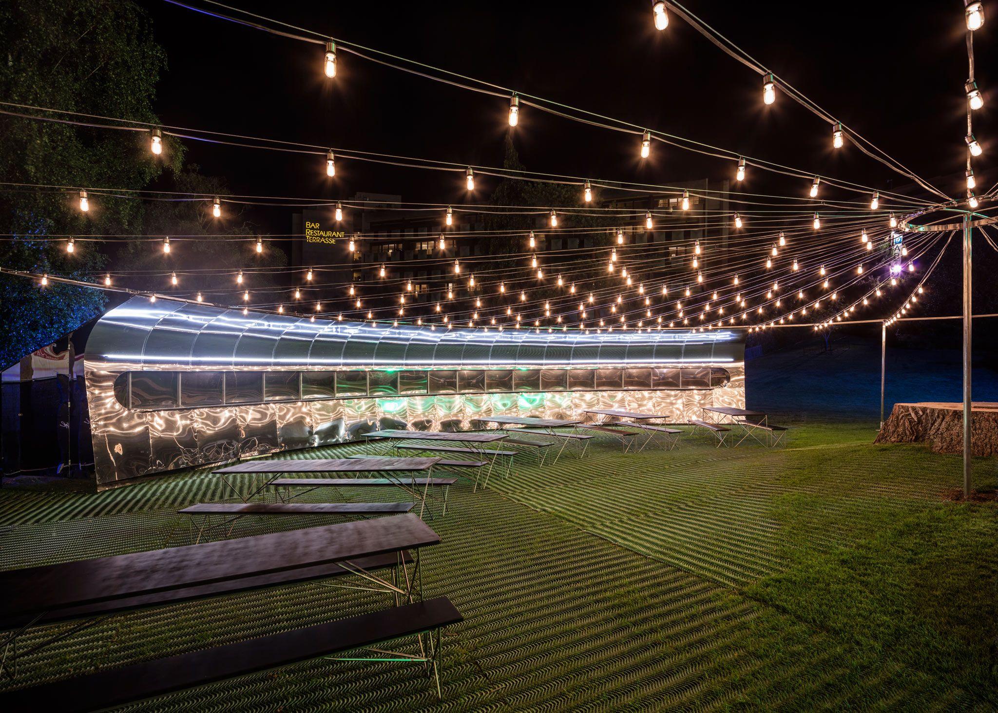 Montreux jazz festival circular pavilion by bureau a events