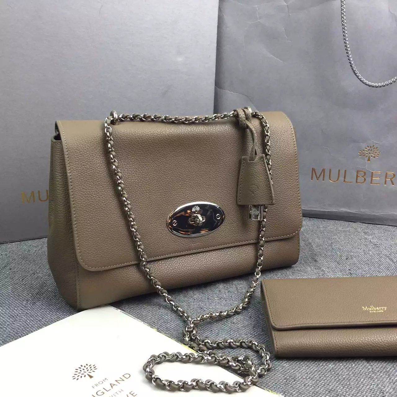 0079e64c5572 Spring Mulberry 2016 Lily Bags Outlet UK-Mulberry Medium Lily Black Small  Classic Grain
