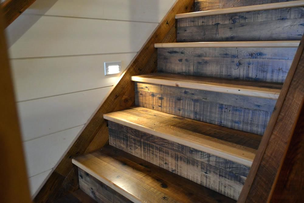 Image Result For Reclaimed Hemlock For Stair Treads Wood Stair | Distressed Wood Stair Treads | Oak Stair | Bullnose Manufacturing | Straight Edge Wood | White Oak | Heavy Timber Stair