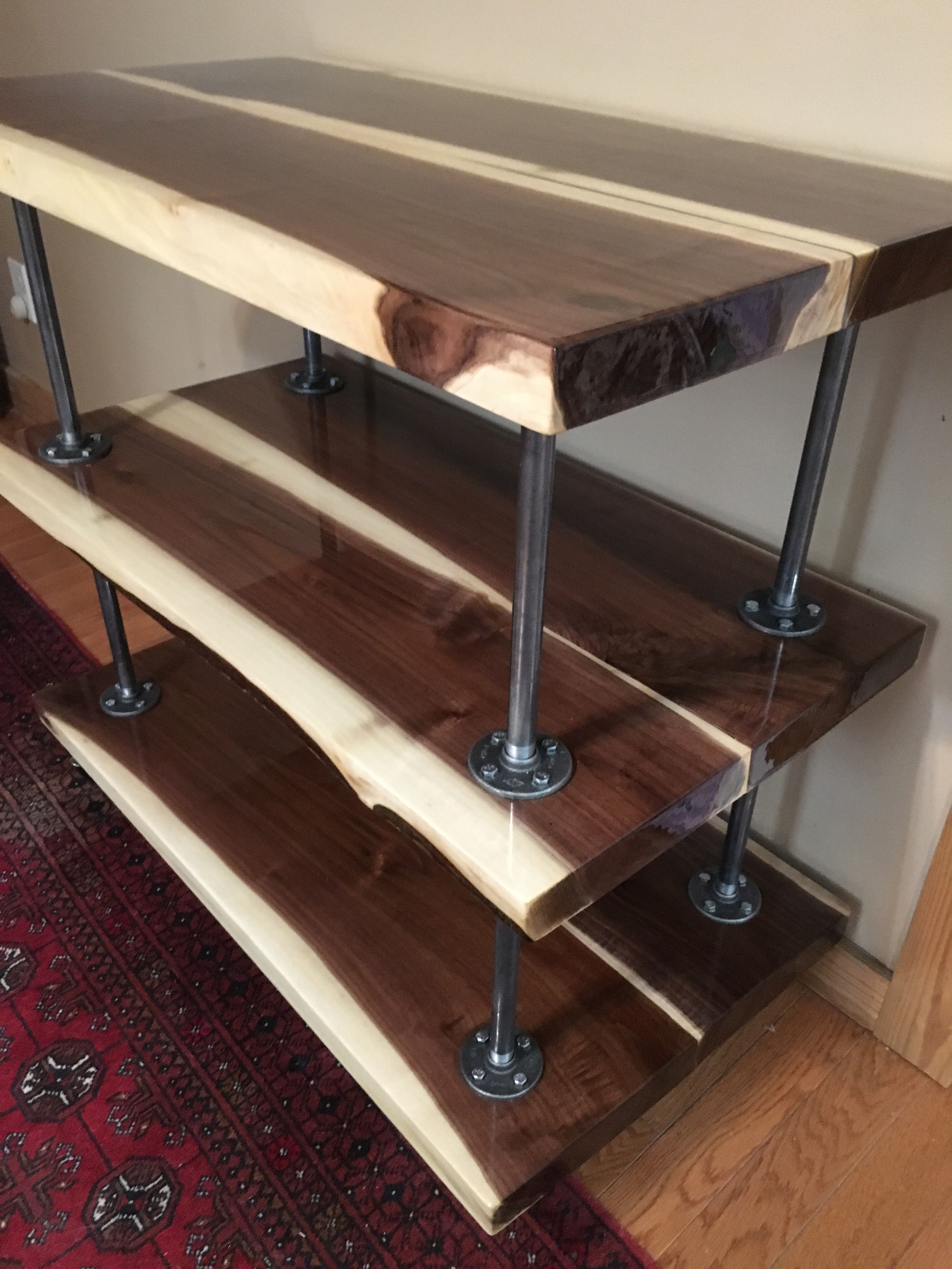 Absolutely Stunning Solid Walnut Kitchen Cart By Kadamsrva Custom Woodworking With Clear Epoxy Finish