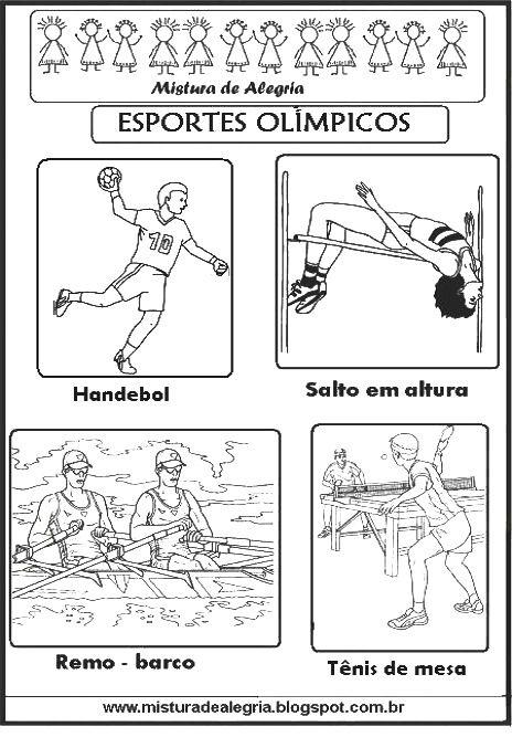 Esportes Olimpicos Para Colorir Olimpiada 2016 Com Imagens