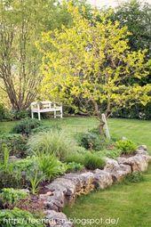 Photo of Adoro il muro di contenimento di roccia naturale #giardino di fiori #giardino di fiori …