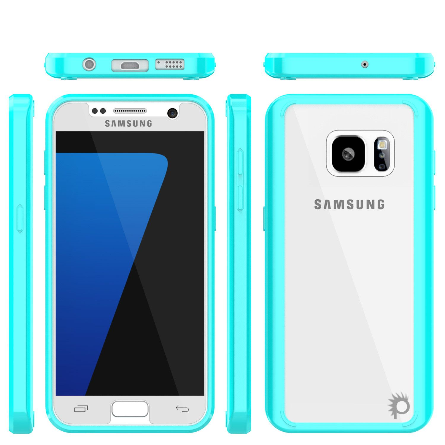 S7 Case Punkcase® LUCID 2.0 Teal Series w/ PUNK SHIELD Glass Screen ...
