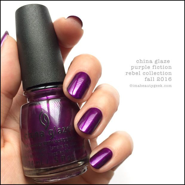 China Glaze Purple Fiction – Rebel Collection 2016
