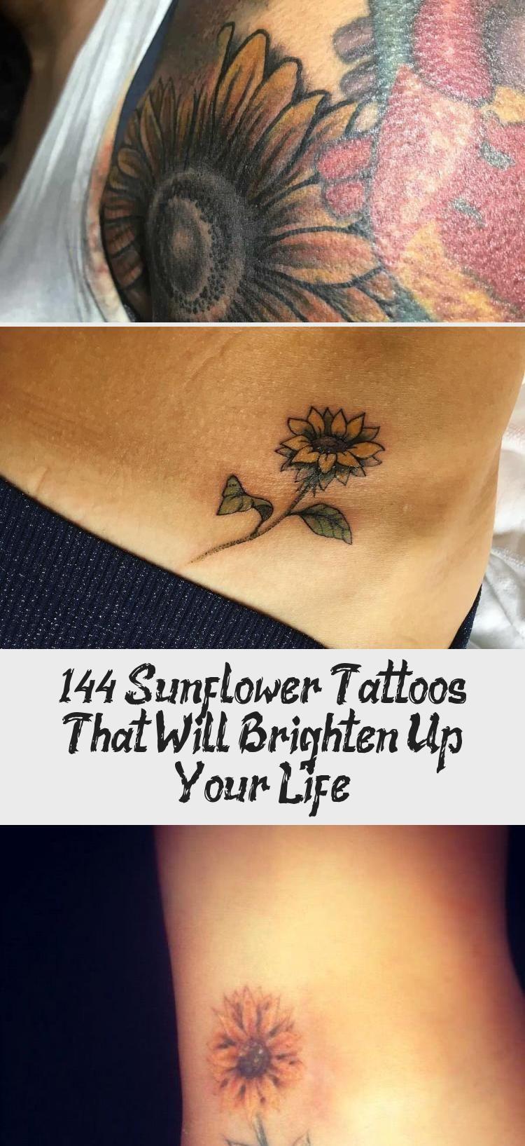 Photo of 144 Sunflower Tattoos That Will Brighten Up Your Life #sunflowertattoosBehindEar…