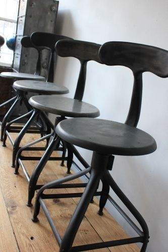Ancienne Chaise Basse D Atelier Industrielle Nicolle