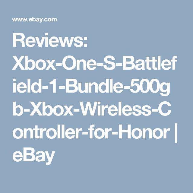 Reviews: Xbox One S Battlefield 1 Bundle 500gb
