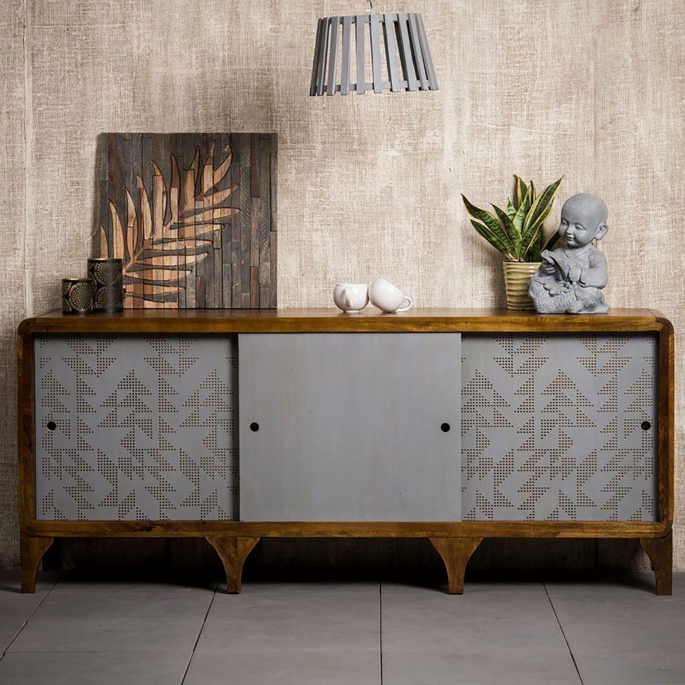 Sideboard Holz 180 cm, Anrichte Küche, Wohnzimmerschrank