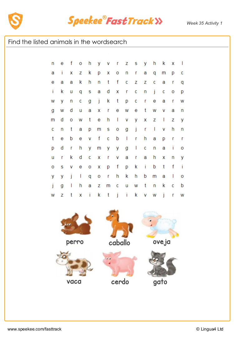 Spanish Animals Worksheet For Kids Spanish Animals Learning Spanish For Kids Spanish Lessons For Kids [ 1100 x 750 Pixel ]