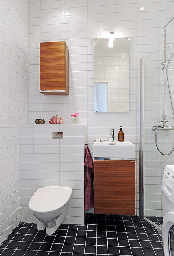 Gorgeous Renovation Of A Small Apartment In Sweden Scandinavian Bathroom Design Ideas Bathroom Design Bathroom Interior Design