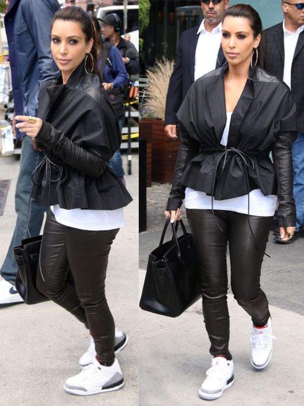 Kim Kardashian Rockin Jordans!