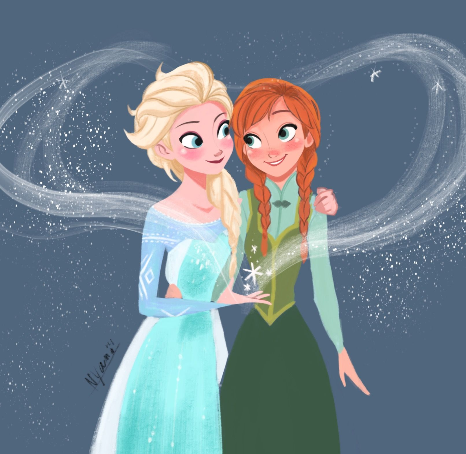 Elsa and Anna - Frozen ❄️