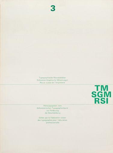 Grids / Cover from 1963 Typographische Monatsblätter issue 3 — Designspiration