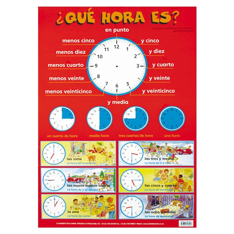 worksheet A Que Hora Worksheet hora es rzeczy do noszenia pinterest spanish hora