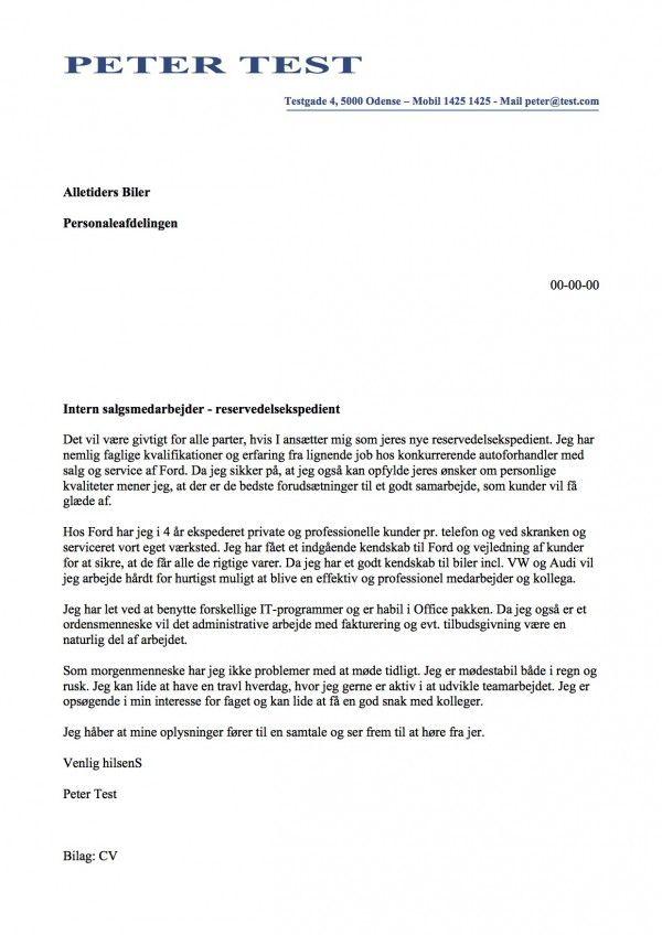 Intern Salgsmedarbejder Reservedelsekspedient Place Pinterest   Bcg Cover  Letter  Bcg Cover Letter