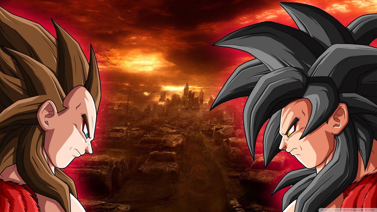 GOKU vs VEGETA AT SUPER SAIYAN LEVEL 4 | Oscar's board ...
