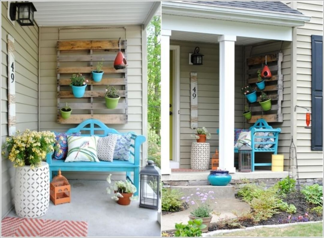 30 Gorgeous Small Front Porch Decorating Ideas For Summer Simple