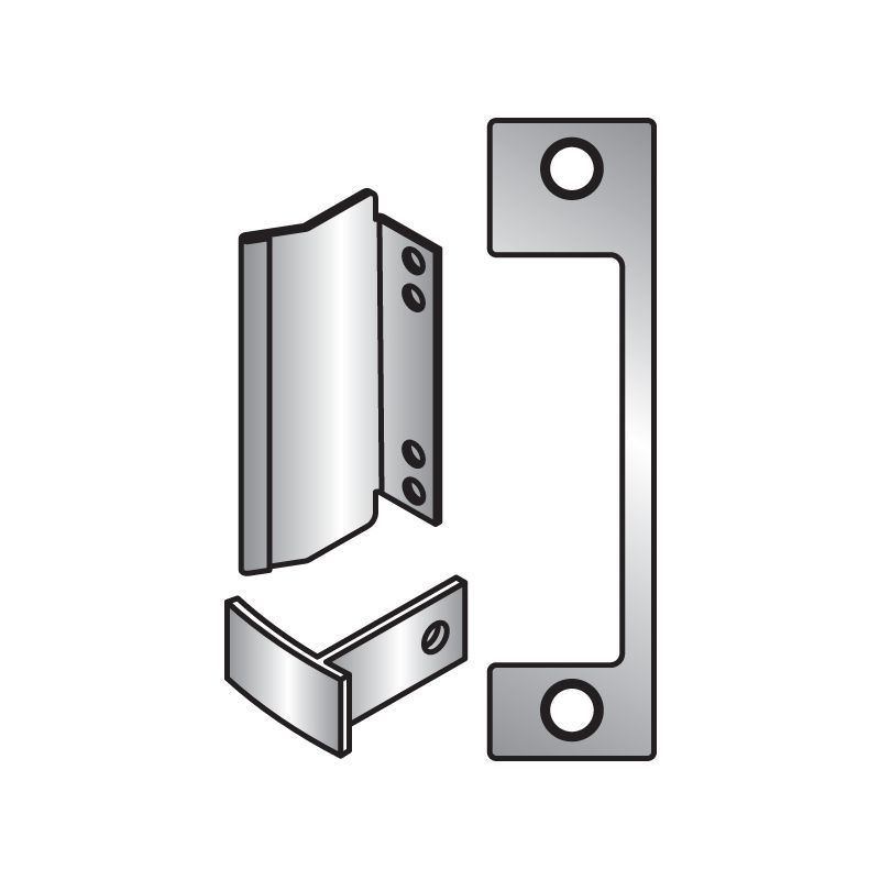 HES TD Faceplate for HES 1006 Series Electric Strikes for Use with Mortise Locks Bright Brass Faceplate Faceplate
