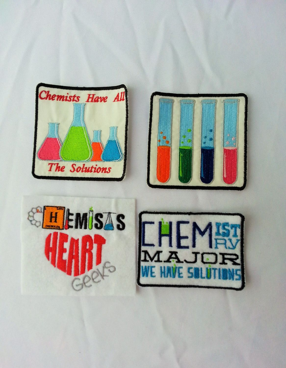 Chemistry Science Patches Iron On Sew On Velcro