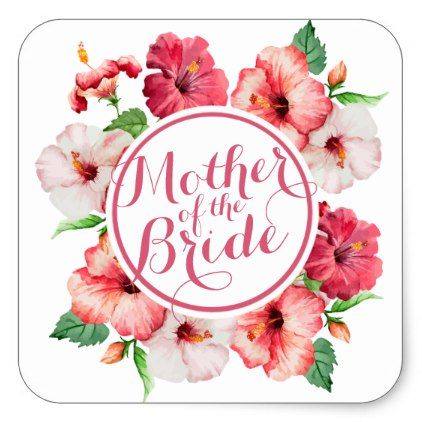 Mother of the Bride Watercolor Wedding Sticker floral style flower