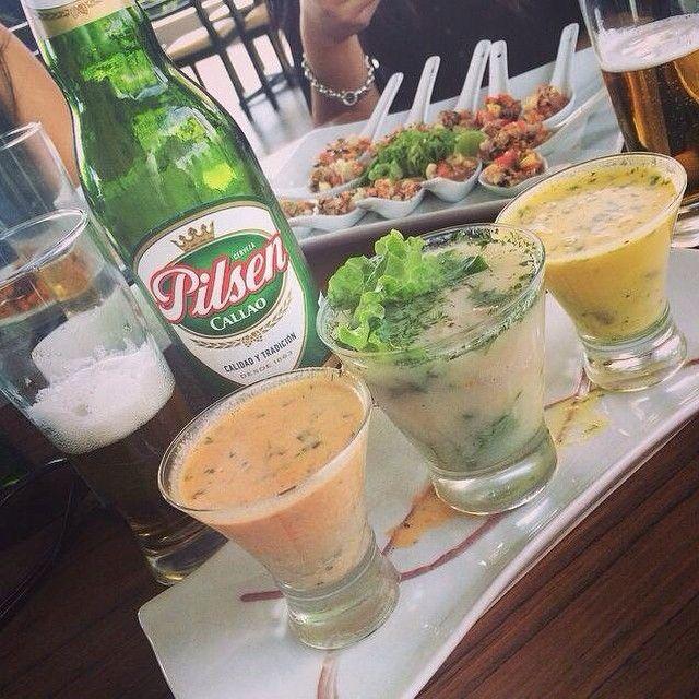 3 Leches De Tigre De Pescado Y Choritos Ala Chalaca Y Su Cerveza Pilsen Callao Con Los Amigos Instagram Posts Instagram Cris