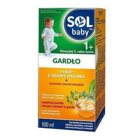 SOLBABY THROAT Syrup 100ml, 1 year+, sore throat remedies ...