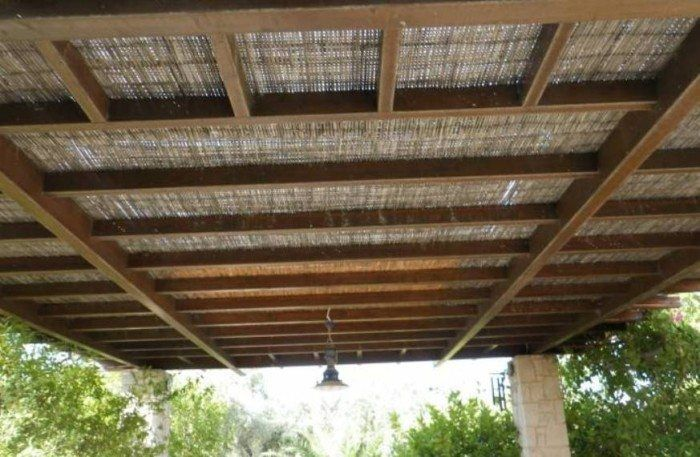 Natural Bamboo Pergola Roof Pergola Pergola Shade Modern Pergola Designs
