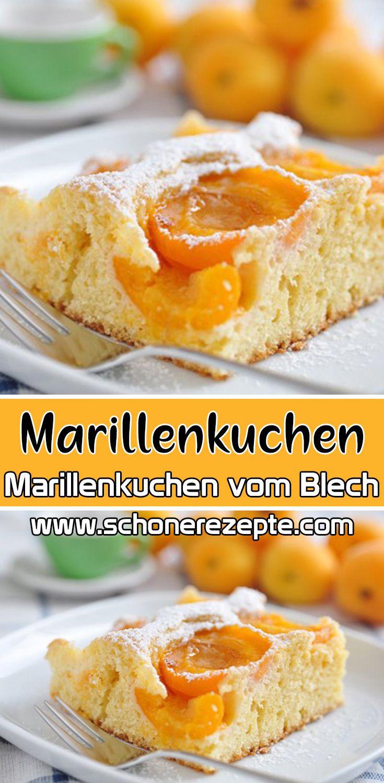 Marillenkuchen vom Blech Rezept - Einfache Blechkuchen-Rezepte #kuchenkekse