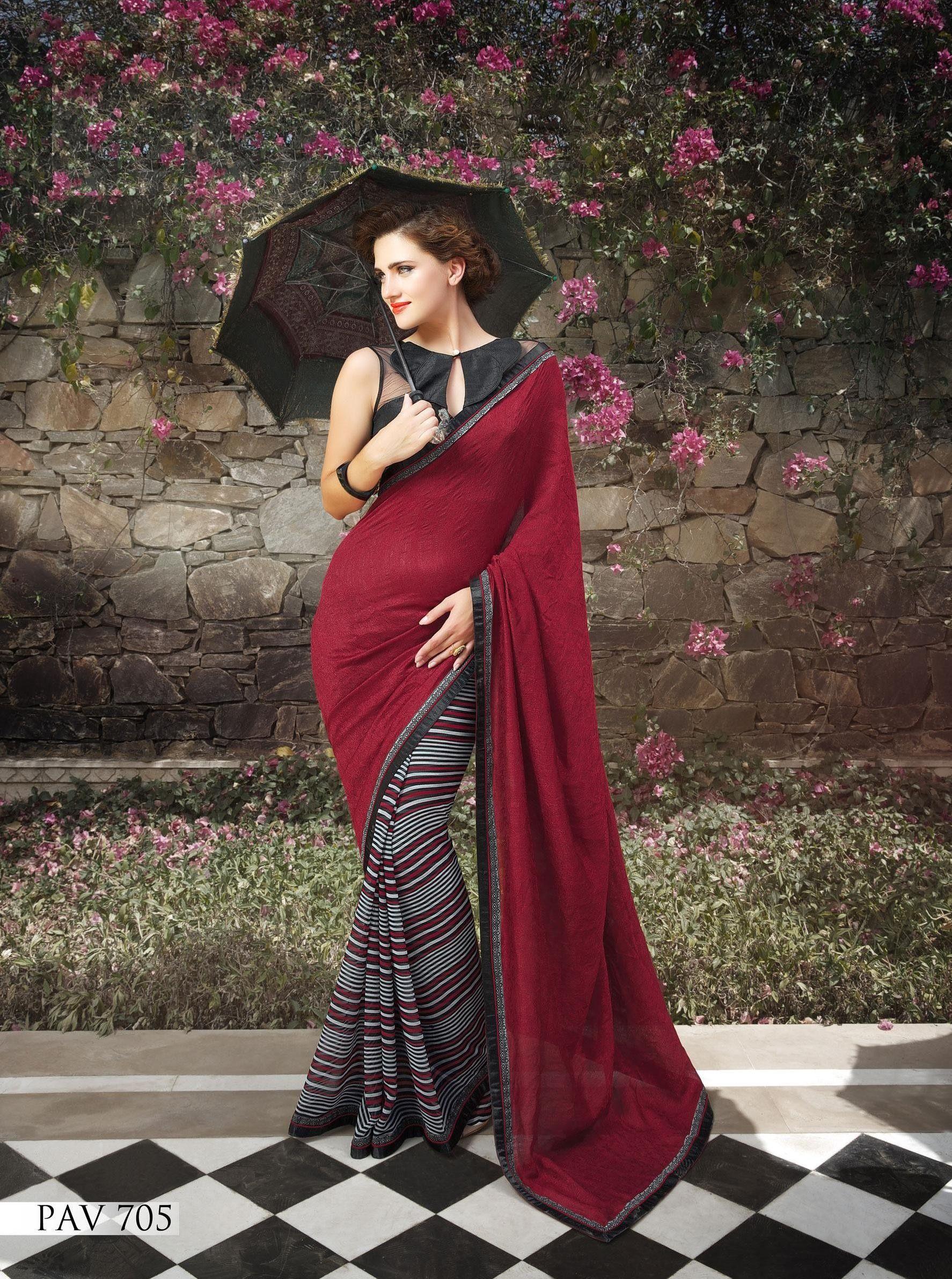 Sari wedding dress  Marvellous Charming Maroon Saree  sarees  Pinterest  Saree Saree
