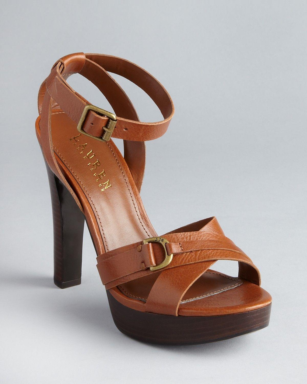 c78924292ec Lauren Ralph Lauren Strappy Platform Sandals - Falan High Heel - Sandals -  Shoes - Shoes - Bloomingdale s