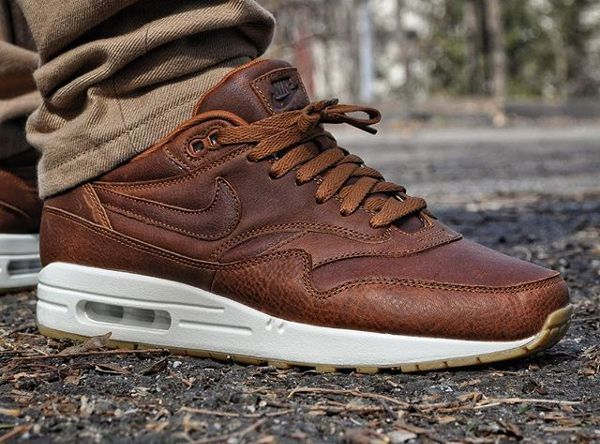 nike air max 1 id pendleton british tan shoe