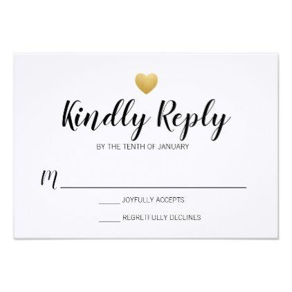 Heart of gold wedding rsvp card stopboris Images