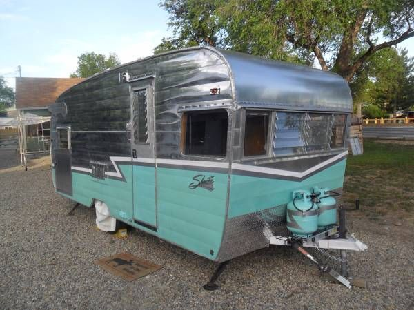 Vintage Camper Trailer For Sale, Shasta DeLuxe 19 ft Trailer Found